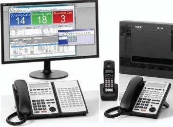 NEC SL1100 Phone System with 8 Phones and a Polycom Wireless Conference Phone